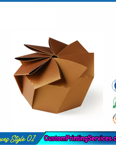 Hexagonal Origami Gift Boxes