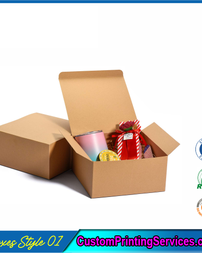 Kraft Gift Boxes with Lid