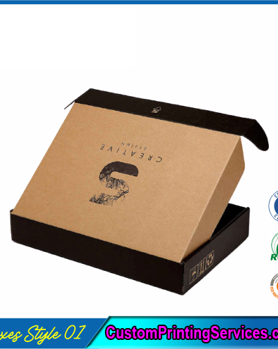 Kraft Logo Shipping Boxes