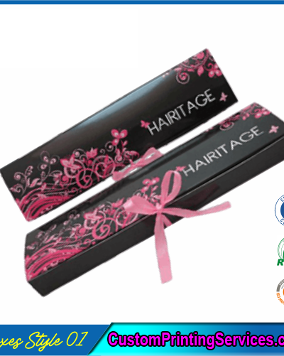 Matte Black Hair Extension Boxes