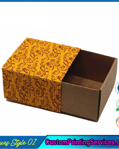 Printed Kraft Apparel Packaging Boxes