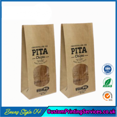 Printed Kraft Window Packaging Bags