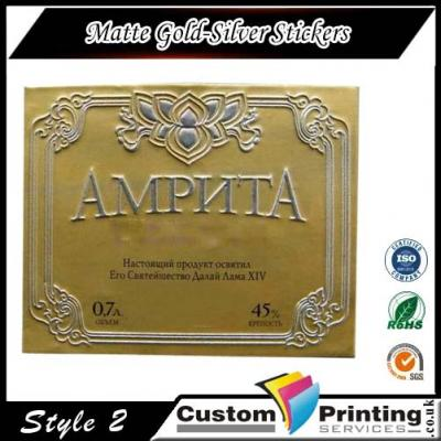 Matte Gold-Silver Stickers Printing